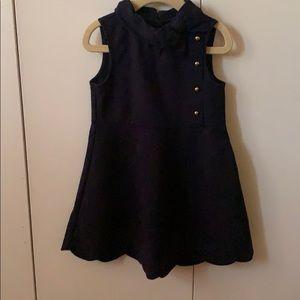 Janie and Jack Girls  Navy  Dress Size 4